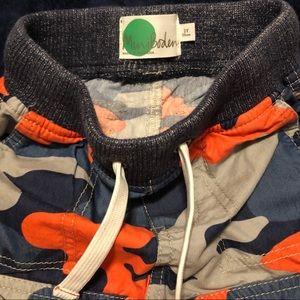 Mini Boden Camo Style Pants Shorts Size 3 NWOT